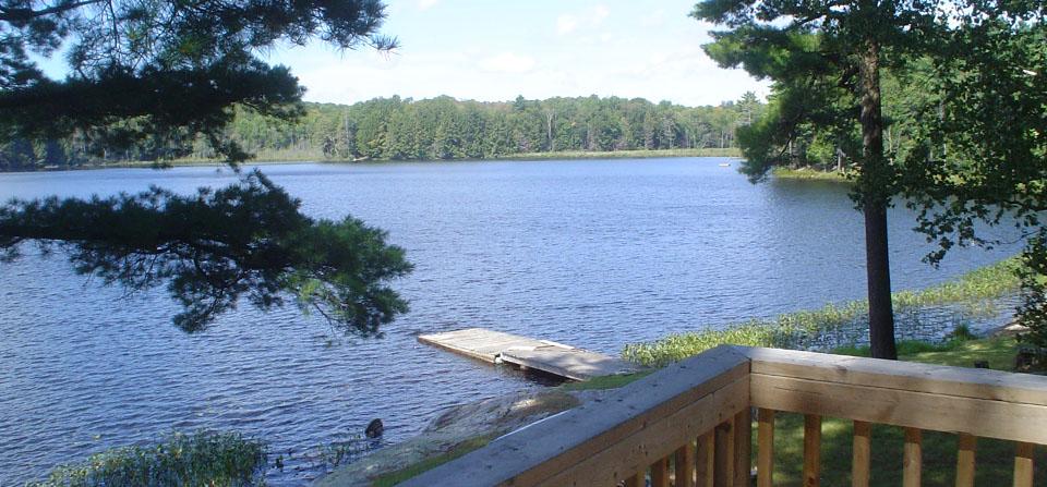 Muskoka Lakeside Resort Deck